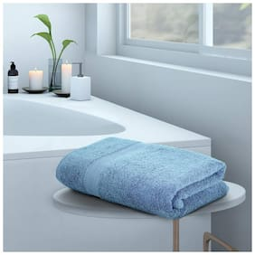 Daksh 550 GSM Cotton terry Bath towel ( 1 piece , Blue )