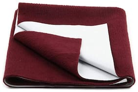 Daksh Fleece Single Mattress ( Maroon )