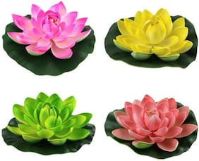 Dannyboyzs Floating flowers artificial water flowers floating lotus pond Artificial Flower