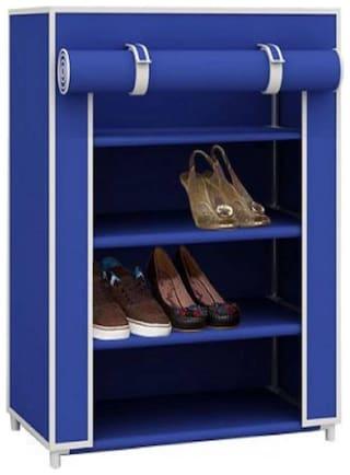 VALTIOR Carbon steel Shoe Rack ( Blue )