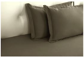 Dark Grey Biosense Solid Pillow Covers (Pillow Cover (2 Pc Set)