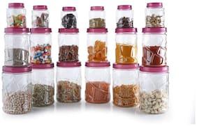 DARKPYRO 1100 ml Brown Plastic Container Set - Set of 18