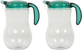 DDice 1000 ml Plastic Oil & Vinegar Dispensers - Set of 2