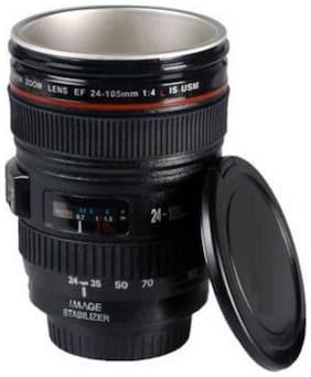 De-Ultimate DSLR Unique Lens Shape Leakproof For Drinking Tea & Coffee Stainless Steel, Plastic Mug  (400 ml)