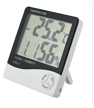 Dealcrox New HTC-2 Digital LCD Temperature Thermometer Humidity Meter Tester Clock