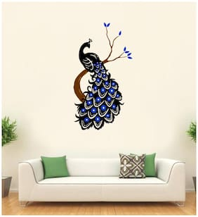 Decal o Decal Vinyl Beautiful Peacock on Tree Wall Stickers