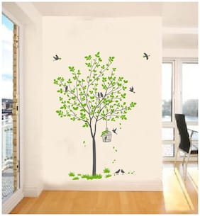 Decal O Decal Wall Decals Green Tree With Birds And Nest Wall Stickers