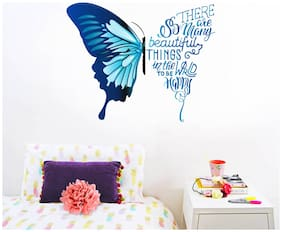 Decal O Decal ' Butterfly With Motivational Quotes ' Wall Stickers