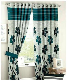 Decofest Floral Eyelet Door Curtains
