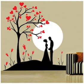 Decor Kafe Couple Under Tree Wall Decal (DKHS0735S)