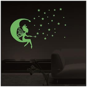 Decor Villa Glow In The Dark MOON FAIRY  Radium Night Glow Wall  Sticker