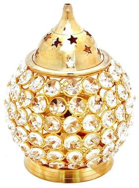 Decorate India Brass Modern Golden Lamp ( 1pc )