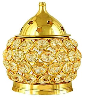 Decorate India Brass Modern Golden Lamp ( 1pc )