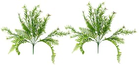 Decorebugs' Pair of Artificial Plant Bunches (Set of 2) Grass Flower ( Height 30 cms / 12 inchs )Without Pot