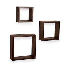 Decornation Set Of 3 Nesting Square Wall Shelves