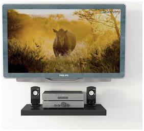 Decornation Black TV And DVD Player Shelf