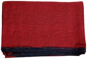 Decornt Cotton Floor Satranji Mat Galicha Dhurrie Jaipur Rug Solapur Carpet 193.04 cm (76 inch) x 309.88 cm (122 inch) - Red