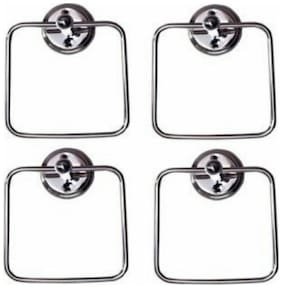 deeplax towel ring square jack holder stand set of 4