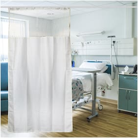 Delfe Cream Medical Curtains Hospital Lab Clinic Room Decorative Height 7 feet and Width 4.5 feet