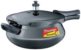 Prestige Deluxe Plus Junior Induction Base Hard Anodized Pressure Handi, 4.8 Litres, Black