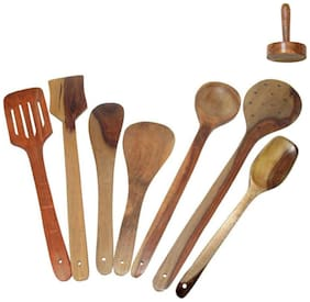 Wooden Kitchen Tool Set-Set Of 8