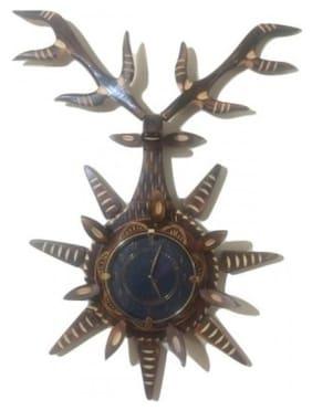 Desi Karigar Black Wall Clock