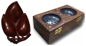 Desi Karigar Dry Fruit Tray Home Decor Kitchen Dinning Table Serving Fruit Tray, Wooden Dry Fruit / Sweets / Spices Box