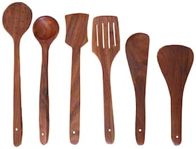Desi Karigar Wooden Cutlery - Set Of 6