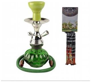 Desi Karigar Glass Green Hookah Set of 1
