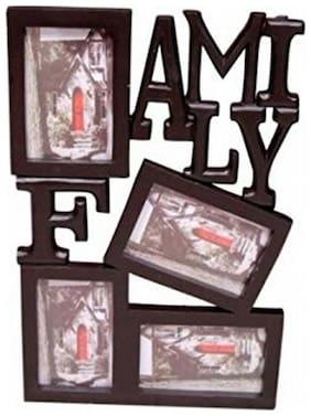 Desi Karigar Wood Brown Collage picture frame ( Set of 1 )