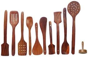 Desi Karigar Wooden Kitchen Essential Tools - Set Of 11