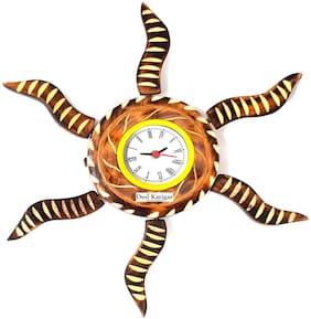 Desi Karigar Wood Analog Wall clock ( Set of 1 )