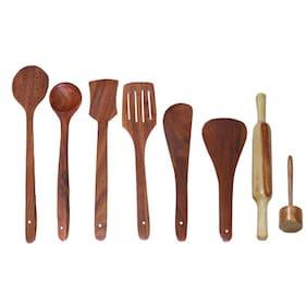 Desi Karigar Wooden Cutlery - Set Of 8