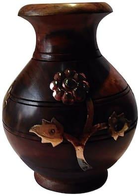 Desi Karigar Wooden Decorative Flower Pot