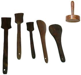 Wooden Kitchen Tool Set-Set Of 6