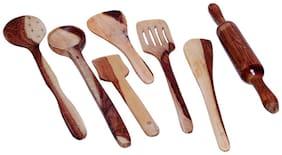 Wooden Kitchen Tool Set-Set Of 7