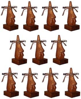 Desi Karigar Hand Carved Nose Shaped Eyeglass Spectacle Holder Wholesale Pack-Set Of 11