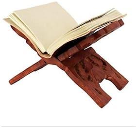 Desi Karigar WOODEN HAND CARVED HOLY BOOK STAND,FOR QURAN,BIBLE,GITA,VED ,GURU GRANTH SAHIB SIZE (13 inch)