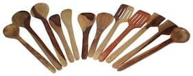 Desi Karigar Spoon Set of 12 pcs/ Wooden Spatula, Ladle & Kitchen Tool Set