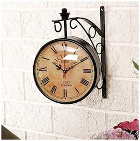 Desi Karigar Brown Wall clock