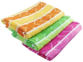Design Cotton Bath Towel - Assorted (Set Of 3