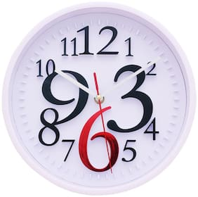 Design O Vista Plastic Analog Wall clock ( Set of 1 )