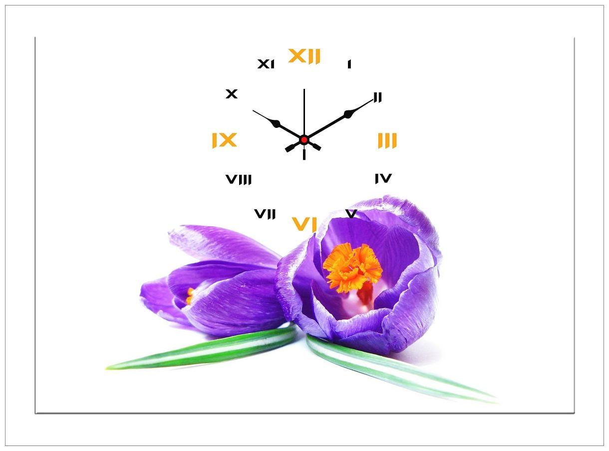 Design O Vista Canvas Wood Analog Wall clock ( Set of 1 )