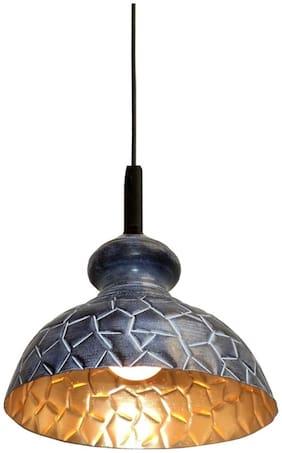 Design Villa Grey Color Geometrical Design Iron Pendant Hanging Lamp