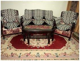 Design Villa Multicolor Floral Design Polycotton Sofa Cover Set of 6 With 6 Handle Cover