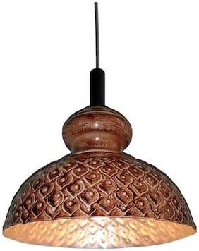 Design Villa Brown Color Iron Hanging Lamp (pendant)