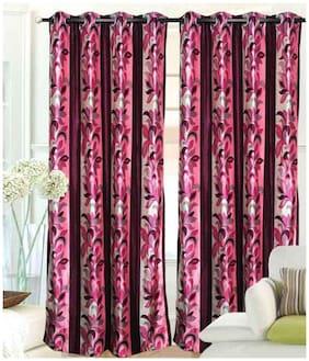 Madhav product designer flower eyelet door curtain (set of 2)