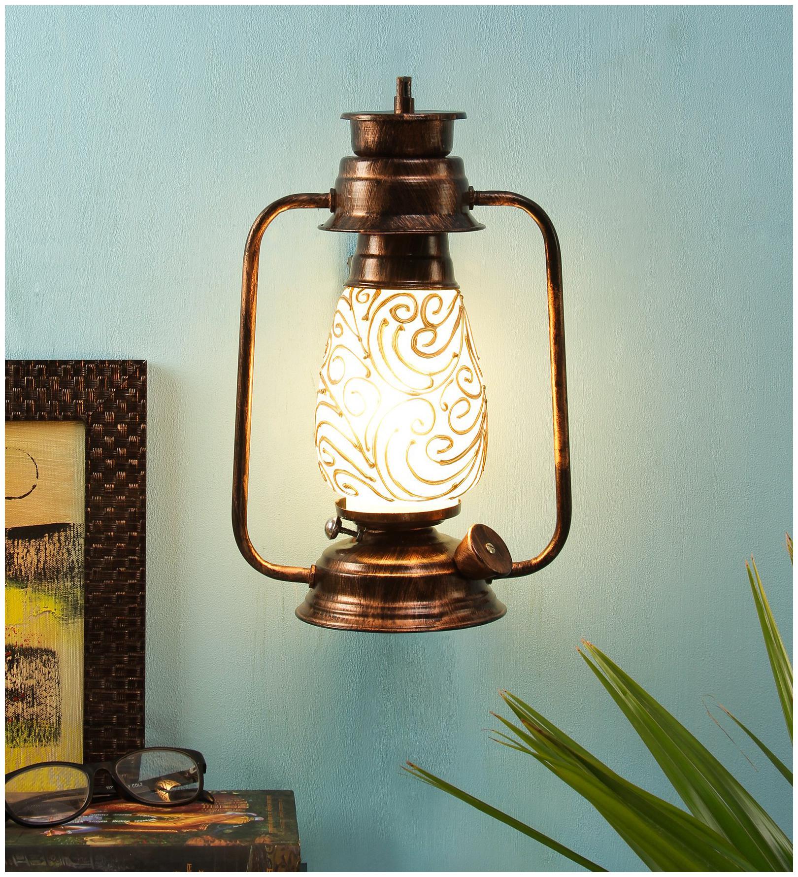 Devansh Multicolor Mosaic Glass Wall mounted Lantern
