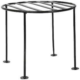 Dhavesai Iron Plant Stand/Pot Stand (24 cm x 24 cm x 20 cm, Black)