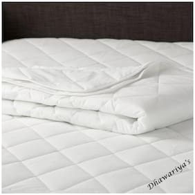 "Dhawariya'S Home Elegant Waterproof & Dustproof Topper Fitted Mattress Protector Double Bed King Size (Size: 72""X78"")"